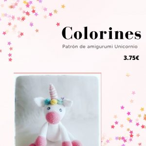 Patrón Colorines Unicornio