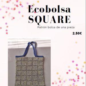 Patron ecobolsa square