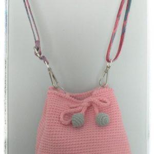 Bolso saco rosa
