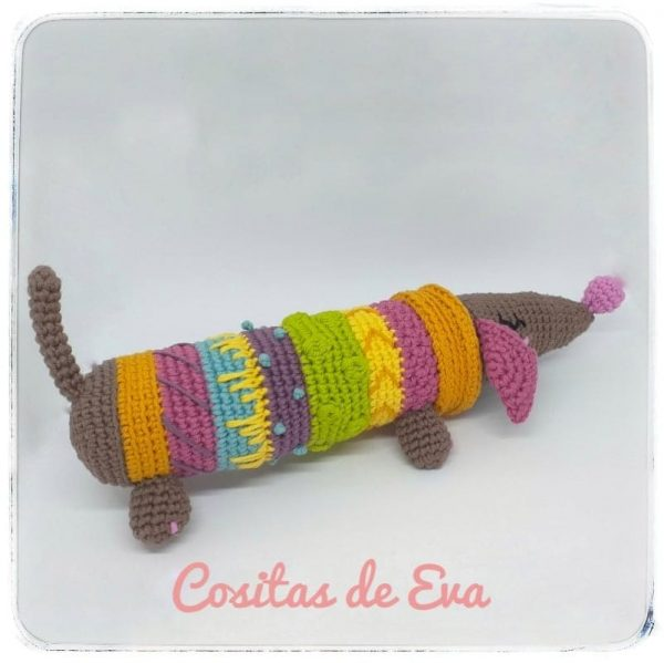 cuqui perro salchicha crochet